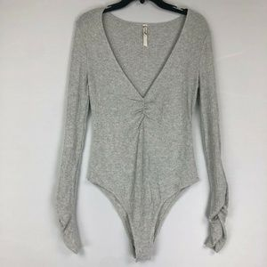 Free People Cozy Up With Me Bodysuit L